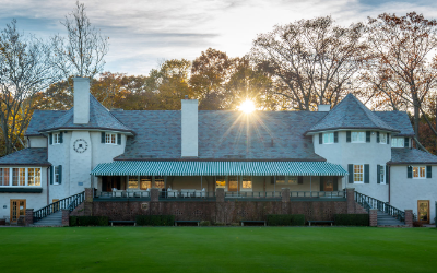 View of the clubhouse.